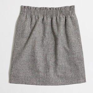 J. Crew Pleated Mini Skirt In Grey Flecked Wool 14